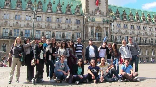 Besuch des Rathaus in Hamburg